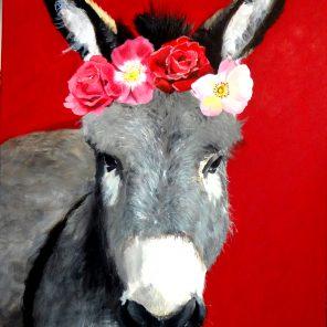 L'âne couronné de roses