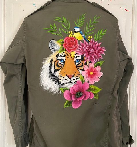 Tigre et mésange