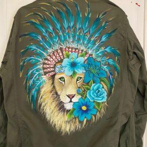 Lion turquoise
